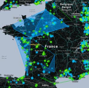 jeux en réalité augmentée: carte de la France